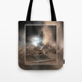 Heavy Duty Earthworks During An Eclipse Tote Bag