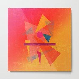 Autumn Abstract Design Metal Print