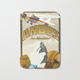 """Andes """"For Adventure!"""", Bath Mat"""