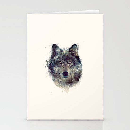 Wolf // Persevere  Stationery Cards