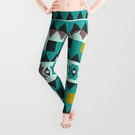 Aztec geometric pattern Leggings
