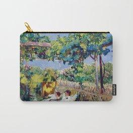 Joaquin Sorolla y Bastida - Nap in the Garden 1904 Carry-All Pouch