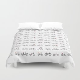 Know Your Bicycles Duvet Cover