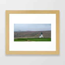 Tjorn church in Iceland Framed Art Print