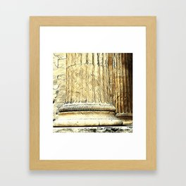 Columns of the Sacred Temple Framed Art Print