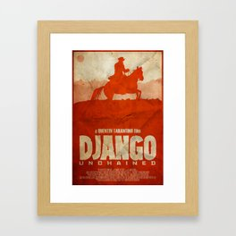 The D is Silent - Django Unchained Poster Framed Art Print