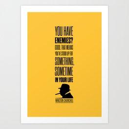 Lab No. 4 - Winston Churchill Inspirational Quotes Poster Art Print