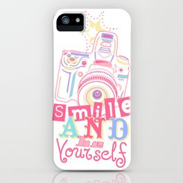 Smile and be Yourself - Pastel Camera iPhone Case