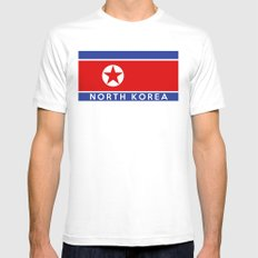 flag of North Korea Mens Fitted Tee White X-LARGE
