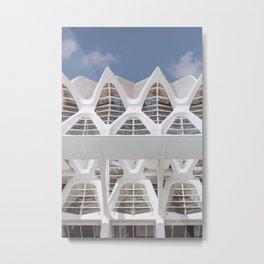 White Patterns | Museu de les Ciències Príncipe Felipe | Valencia Spain | Travel photography print | Architecture Photo art Metal Print