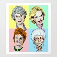 Golden Girls Multi-Colour Art Print