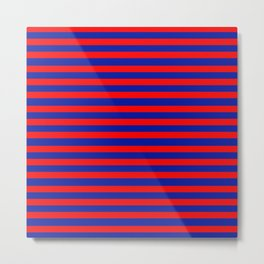 TEAM COLORS 3 RED, BLUE Metal Print