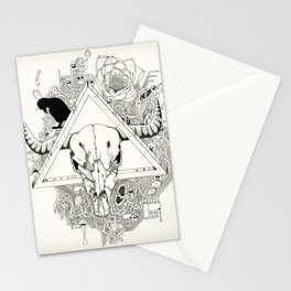 Infested Skull _ White Version Stationery Cards