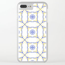 Azulejo Luso - Portuguese Tiles yellow Clear iPhone Case