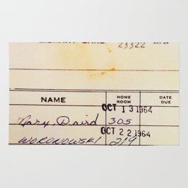 Library Card 23322 Rug