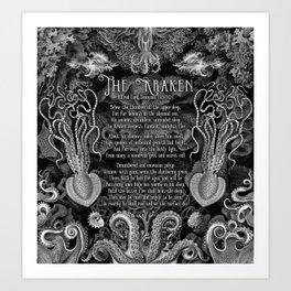 The Kraken (Black) Kunstdrucke