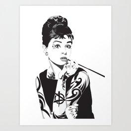 Audrey 2.5 Art Print