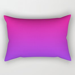 Plastic Pink Proton Purple Ombre Gradient Neon Pink Ultra Violet Pattern Rectangular Pillow