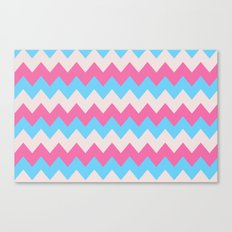 Cotton Candy Chevron Canvas Print