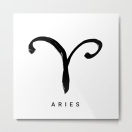 KIROVAIR ASTROLOGICAL SIGNS ARIES #astrology #kirovair #symbol #minimalism #home #decor Metal Print
