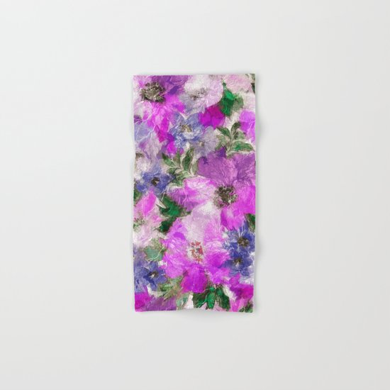 Splendid Flowers Hand & Bath Towel