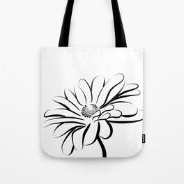 Gerbera Daisy Black & White Print 2 Tote Bag