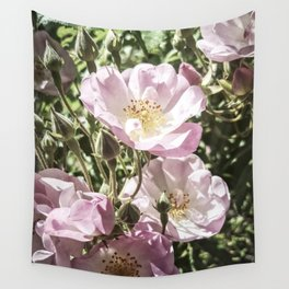 Cool And Luminous Summer Roses Wall Tapestry