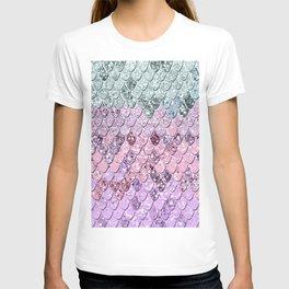 Mermaid Scales with Unicorn Girls Glitter #4 #shiny #pastel #decor #art #society6 T-shirt