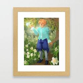 Kyran in Woods Framed Art Print