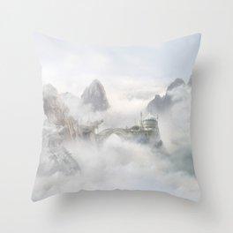 Palace of the Sky Dragons Throw Pillow