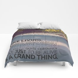 I like living - agatha christie Comforters