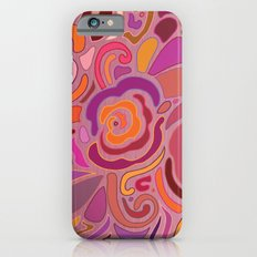 Rose fragments, pink, purple and orange Slim Case iPhone 6s