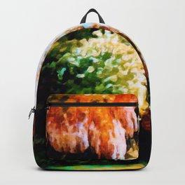 Autumn Forest Waterfall Landscape Art Backpack