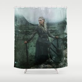 Shieldmaiden Shower Curtain