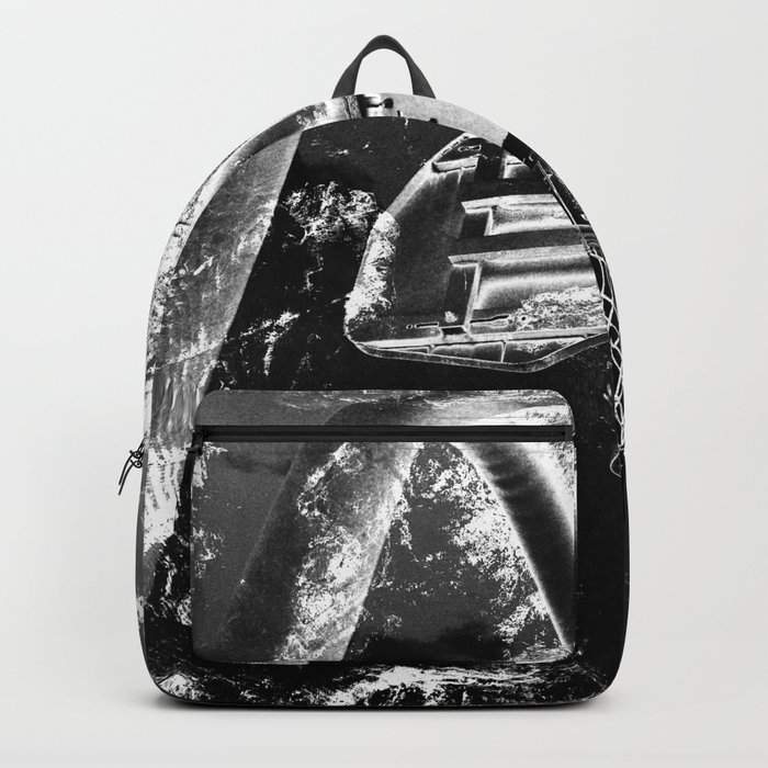 Black And White Basketball Art Rucksack