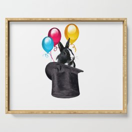 Zylinder Bunny Balloons - cylinder hat Serving Tray