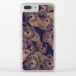 Flower Golden Clear iPhone Case