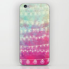Colorful Night Lights iPhone Skin