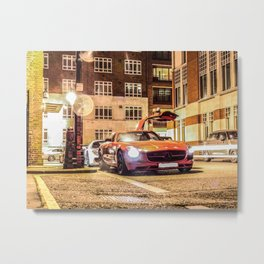 SLS AMG photo-bombed by Porsche 918 Metal Print