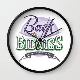 Back to Bidniss color Wall Clock