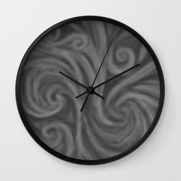 Dark Gray Swirl Wall Clock