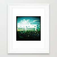concert Framed Art Prints featuring Concert by E.R.