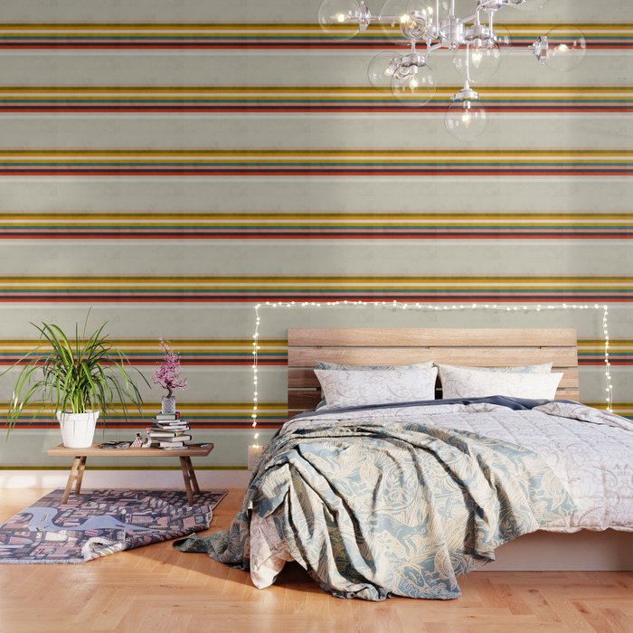 Modern Abstract Stripe Geometric Wallpaper By Anarutbre