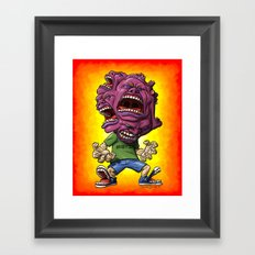 Not Enough Mouths To Scream It Out Framed Art Print