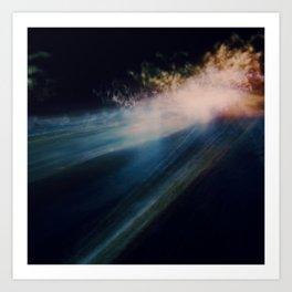 The night I saw Art Print