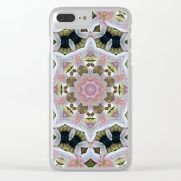 KALEIDOSCOPE LILY ELODIE SINGLE FLOWER PINK/WHITE 2 Clear iPhone Case