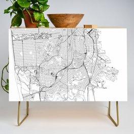 San Francisco White Map Credenza