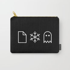 Paper, Snow, A Ghost. Carry-All Pouch