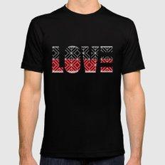 Love Mens Fitted Tee Black MEDIUM