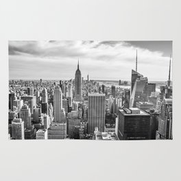 New York City Cityscape (Black and White) Rug